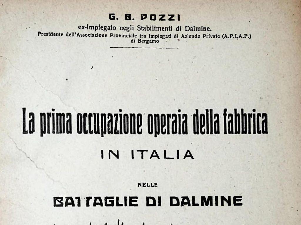 GB Pozzi, L'occupazione della fabbrica di Dalmine, 1919-1920